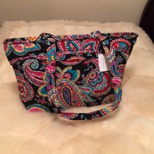 Vera Bradley tote bag in Parisian Paisley pattern